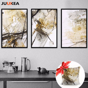 100% Quality Canvas Painting Hipster Decorative Painting 2017 Triptych Abstract