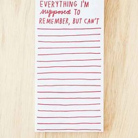 ADAMJK X UO Magnetic Notepad- Red One