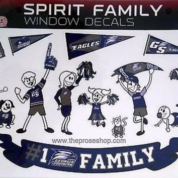Georgia Southern Eagles Sheet Family Spirit LARGE Window Decal Sheet University
