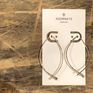 Adorn 512 - Fish Earrings  Medium Silver