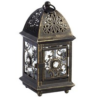 Mini Jeweled Lantern - Black