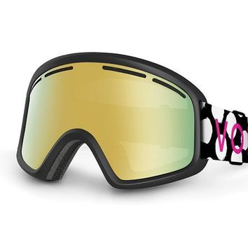 VonZipper - Trike Polka Dot Snow Goggles / Gold Chrome Lenses