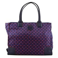 Tory Burch Nylon Ella Printed Packable Tote Bag (Ocho Rios)
