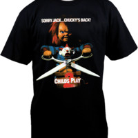 Childs Play - Childs Play 2 - Chucky 'Jack in the Box' Black T-Shirt