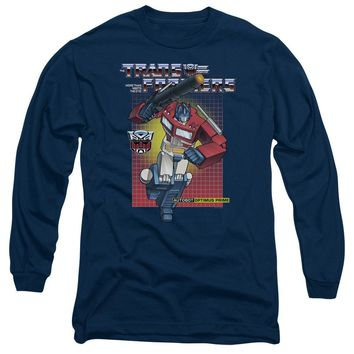 Transformers Long Sleeve T-Shirt Optimus Prime Navy Tee