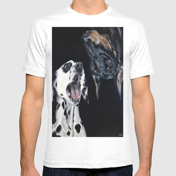 Contrasting Dogs T-shirt by Yuval Ozery