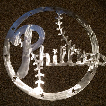 Philadelphia Phillies, MLB, metal wall art, custom designed, fanatics, Phillies, sign