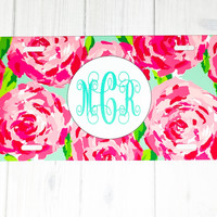 Lilly Pulitzer Monogram License Plate