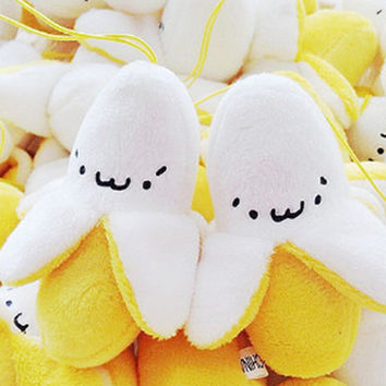 Kawaii Banana Plush Doll Phone Strap