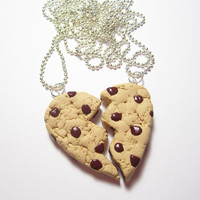 Chocolate Chip Best Friend Cookie  Necklace Set