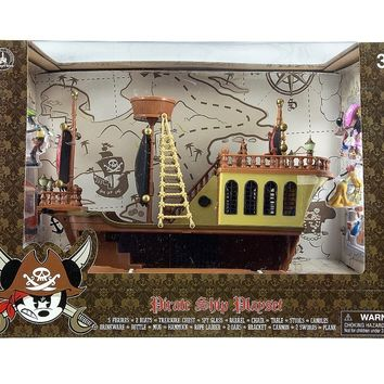 disney parks mickey pirates of caribbean deluxe figurine playset new with box
