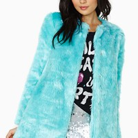 Candy Flip Faux Fur Coat