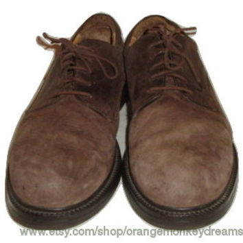 vintage CLARKS leather brown shoes oxfords hipster indie men size 13 us 47 made in italy