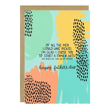 Copy of I'm Glad I Chose You Father's Day Card