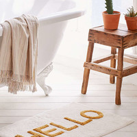 Hello Tufted Bath Mat - Urban Outfitters