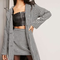 Motel Houndstooth Longline Jacket