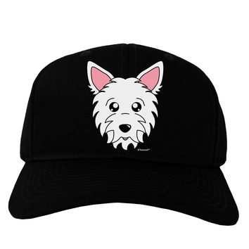 Cute West Highland White Terrier Westie Dog Adult Dark Baseball Cap Hat by TooLoud