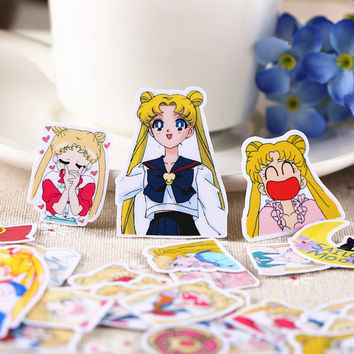 36pcs, Sailor Moon Stickers, Animation, Planner Sticker, kawaii stationary, Erin Condren, Scrapbook Sticker, journal, cute, Sticker set