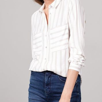 Stripe Viscose Shirt - SHIRTS - WOMAN | Stradivarius United Kingdom