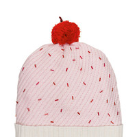 Kate Spade Cupcake Hat With Pom Pastry Pink ONE