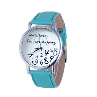 Whatever I'm late anyway Figure Women Wristwatch Watches Quartz Watch