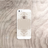 Rubber iPhone 6 Case Clear Lace iPhone Cases Lace iPhone Case iPhone 6 Case iPad Mini Cover Henna Mandala Samsung S6 Case White iPhone 6S