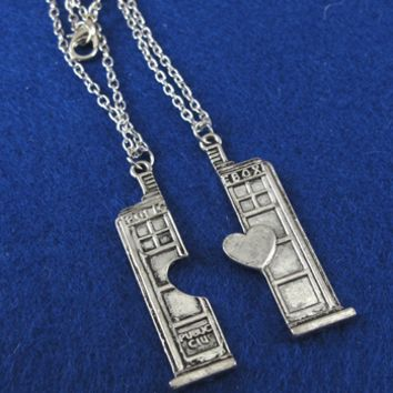 Couple's Tardis Necklace Set