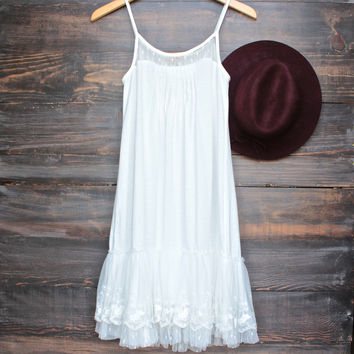 Ryu whimsical fairytale lace dress slip - white