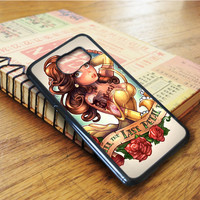 Tattooed Disney Princess Beauty And The Beast Belle Samsung Galaxy S6 Edge Case