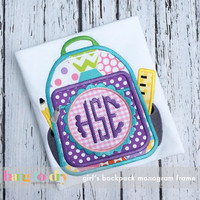 Back to School Backpack Monogram or Customized Tee Shirt - Customizable