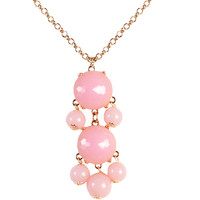Statement Bubble Necklace Resin Pendant Jewelry Trendy Chain Necklaces