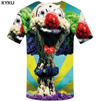 KYKU Clown Tshirt Men Skull T Shirt Anime T-shirt Monster Clothes White Printed Tshirt Funny T Shirts Hipster Mens Clothing 2018