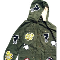 Patched^ Army Jacket <3