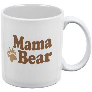 LMFCY8 Mothers Day - Mama Bear White All Over Coffee Mug