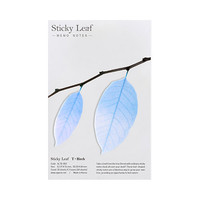 Appree Birch leaf transparent sticky memo notes Medium