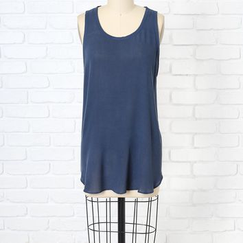 Navy Raw Edge Tank by NRFB | NRFB