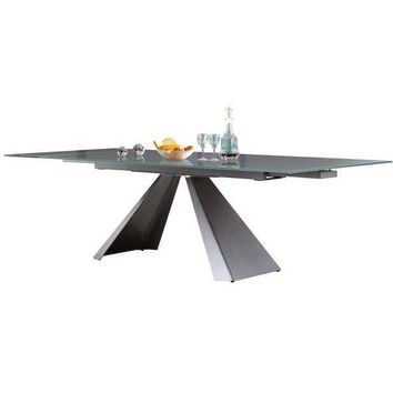 Casabianca Arrow Collection Extendable Glass CB-399DT Dining Table