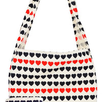 I Love Hearts, Large Canvas Tote