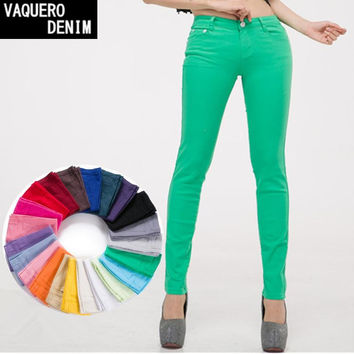 Women Spandex Skinny Pencil Pants