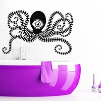 Wall Decal Octopus Tentacles Fish Deep Sea Ocean Animals Vinyl Sticker Decals Nursery Baby Room Home Decor Bedroom Art Design Interior NS315