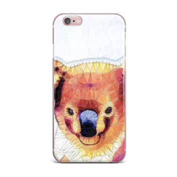"Ancello ""Cute Koala"" Orange Pink iPhone Case"