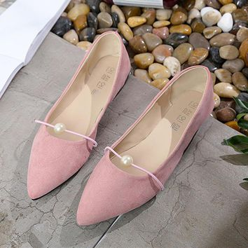 Flat shoes women flock dress slip-on pointed toe loafers shoes 2017 superstar shallow rubber summer shoes zapatillas mujer