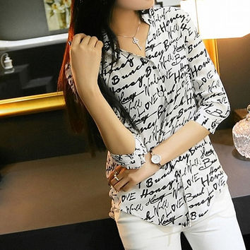 Vintage Women Casual Shirt Print Button Down Collar Chiffon Blouse Tops S-XL W3L 7_S = 1916884548