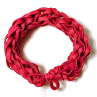 Red Rubber Band Bracelet - Great Party Favor / Gift for Kids Teens and Adults