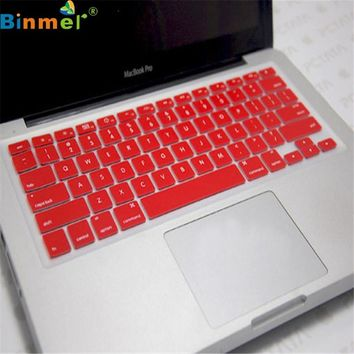 Binmer Factory Price Silicone Keyboard Skin Cover For Apple Macbook Pro Air Mac Retina 13.3  6314B13