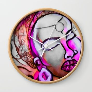 CANCER FIGHTER Wall Clock by violajohnsonriley