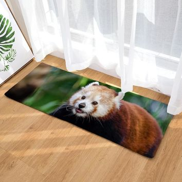Autumn Fall welcome door mat doormat Hot Sale 3D Printed Animal Raccoon  Anti-slip  Water Absorption Kitchen Carpet Long Size Outdoor Floor Mat AT_76_7