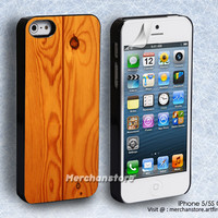 Wood Texture iPhone 5 or 5S Case