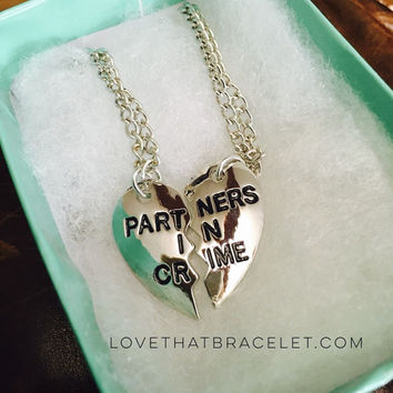 Partners in Crime Best Friend Necklaces(2pcs) Retail 35 Save 30. next day shipping!