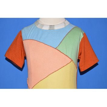 70s Esprit Patchwork Multi-Color Deadstock t-shirt Youth Small